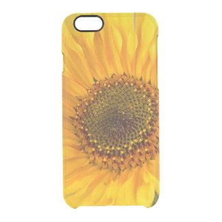 Fiery Sunflower Clear iPhone 6/6S Case