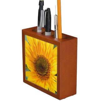 Fiery Sunflower Desk Organizer