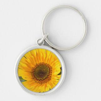 Fiery Sunflower Keychain