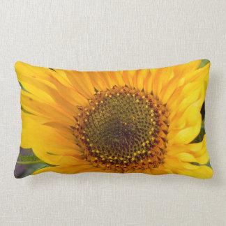 Fiery Sunflower Lumbar Pillow