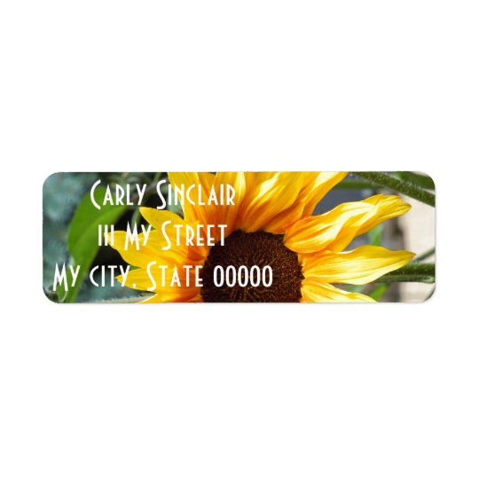 Fiery Sunflower Return Address Label