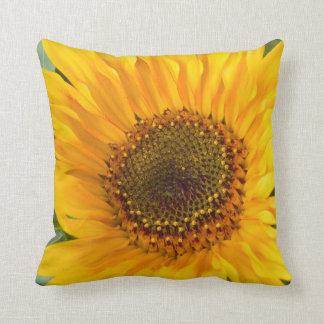 Fiery Sunflower Throw Pillow