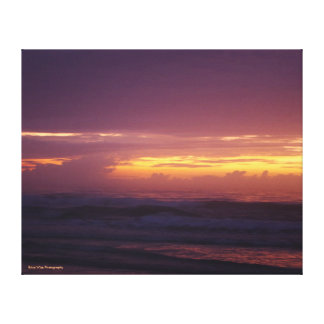 Fiery Sunrise on the Beach Canvas Print