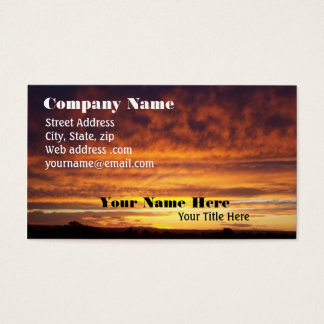 Fiery Sunset business card