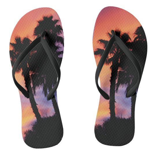 Fiery Sunset Flip Flops