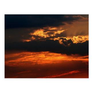 Fiery Sunset H Postcard