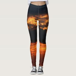 Fiery Sunset Leggings