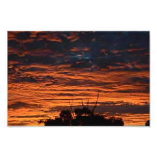 Fiery sunset photo
