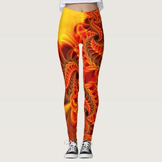 Fiery Swirl Leggings