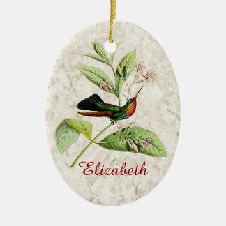 Fiery Throated Hummingbird Ornament