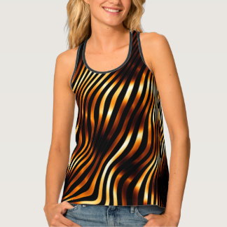 Fiery Tiger Print Tank Top
