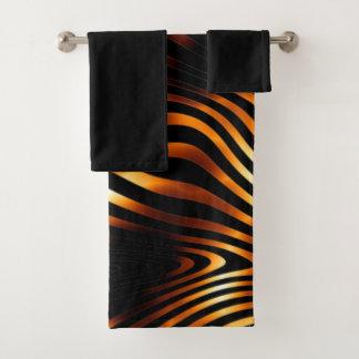 Fiery Tiger Stripes Bath Towel Set