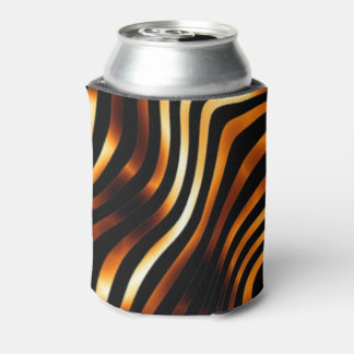 Fiery Tiger Stripes Can Cooler