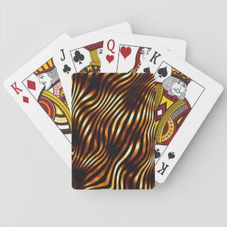 Fiery Tiger Stripes Poker Deck
