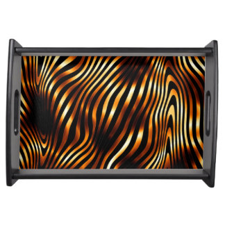 Fiery Tiger Stripes Serving Tray