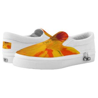 Fiery Tones Nasturtium Slip-On Sneakers