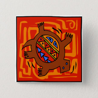 Fiery-Torto 2 Inch Square Button