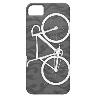 Fiery Track Bike - white on grey Case For The iPhone 5