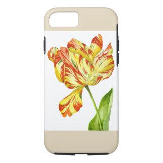 Fiery Tulip on an iPhone Case