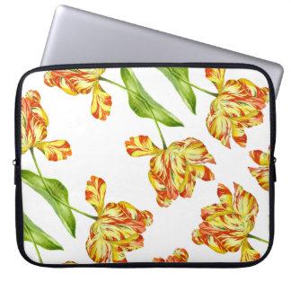 """Fiery Tulips on 15"""" Laptop Sleeve"""