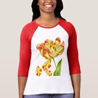 Fiery Tulips on a T-Shirt