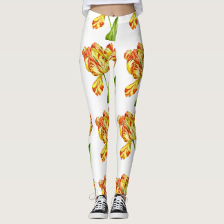 Fiery Tulips on Leggings