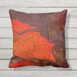 Fiery Wall Throw Pillow