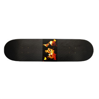 Fiery World Map Illustration Custom Skate Board