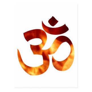 Fiery Yoga Symbol Postcard