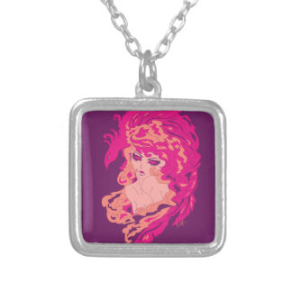 fierylady silver plated necklace