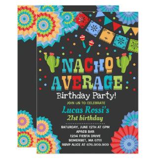 Fiesta 21st Birthday Invitation Nacho Average 21st