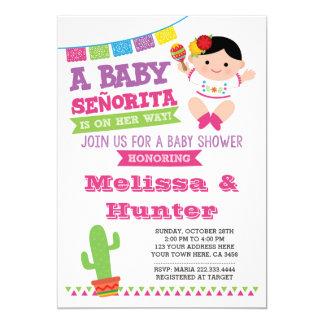 Fiesta Baby Shower, Baby Senorita Invite