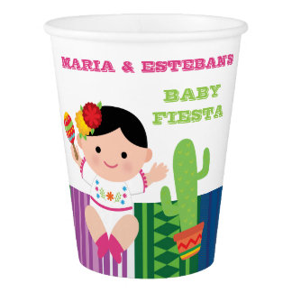 Fiesta Baby Shower Girl Paper Cups