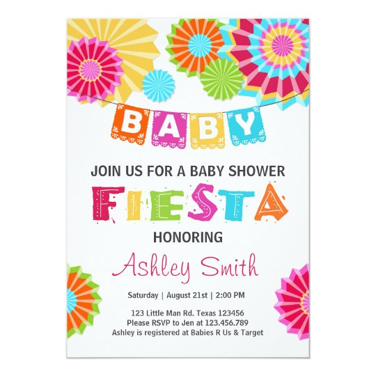 Fiesta Baby shower invitation Mexican baby shower