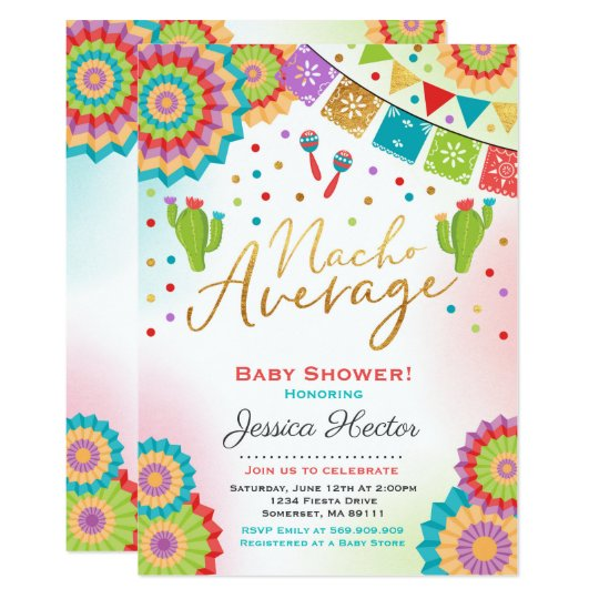 Fiesta Baby Shower Invitation Nacho Average Shower