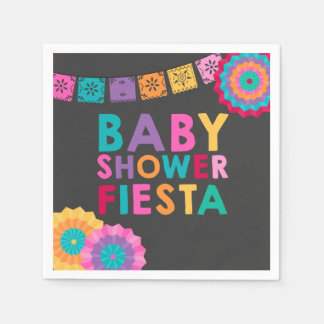 Fiesta Baby Shower Napkin Mexican Baby Shower Disposable Napkin