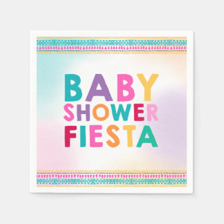 Fiesta Baby Shower Napkin Mexican Baby Shower Disposable Napkins