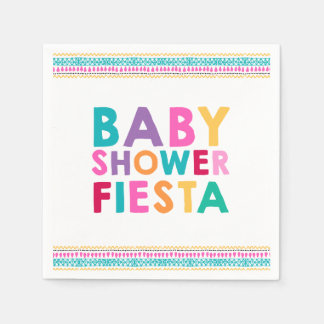 Fiesta Baby Shower Napkin Mexican Baby Shower Paper Napkins