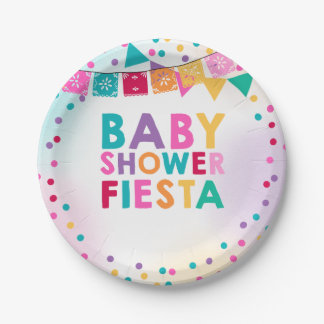 Fiesta Baby Shower Paper Plate Mexican Baby Shower