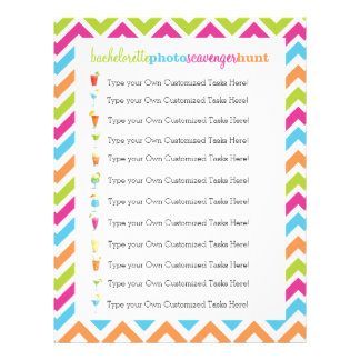 Fiesta Bachelorette Photo Scavenger Hunt Game Letterhead