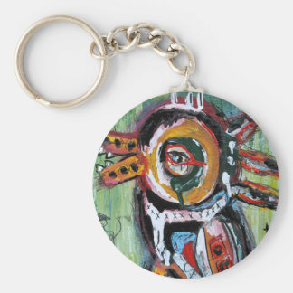 Fiesta Bird Basic Round Button Keychain