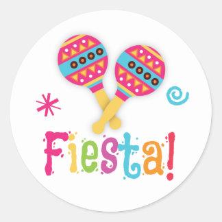 Fiesta Birthday Party Favor Sticker