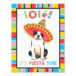 Fiesta Boston Terrier Card