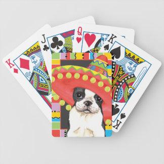 Fiesta Boston Terrier Poker Deck