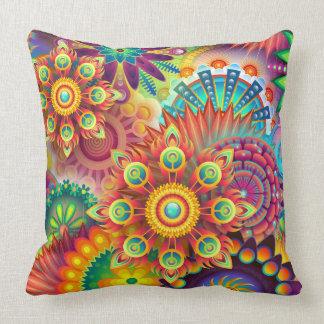 Fiesta Bright Flower Design Pillow Patio Bedroom