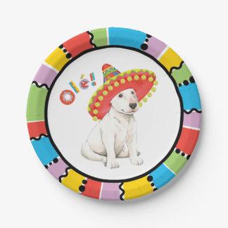 Fiesta Bull Terrier 7 Inch Paper Plate