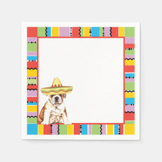 Fiesta Bulldog Disposable Napkin