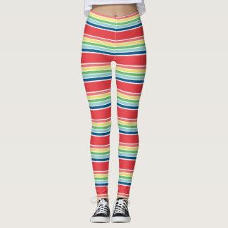 Fiesta Candy Striped Print Leggings
