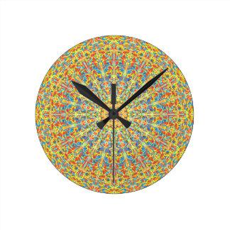 Fiesta Celebration Mandala In Desert Colors Wall Clocks