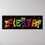 Fiesta Cinco De Mayo Colourful Party Banner Poster